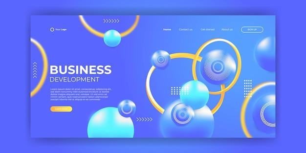Website-template-design und landing-page-linie dynamischer formen blauer hintergrund. vektorillustration für apps-entwicklung, handy, ui-vorlage