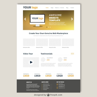Website template in eleganten stil