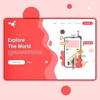 Website-vorlage für website oder apps