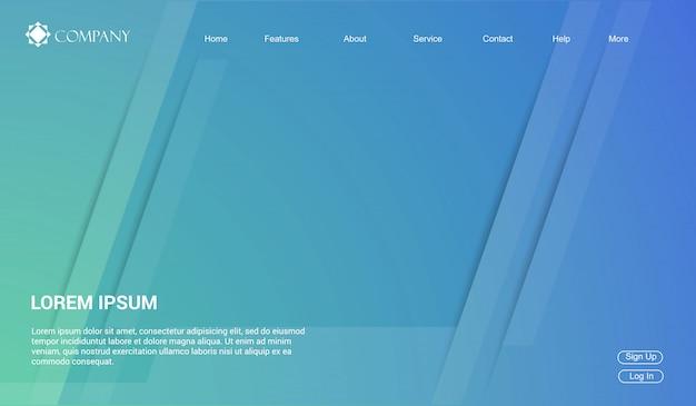 Website-vorlage für websites oder apps. zielseite minimal modern.