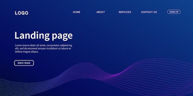 Website-vorlage. zielseite modern für website.