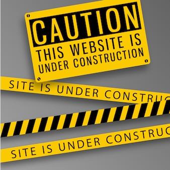 Website vorsicht hintergrund