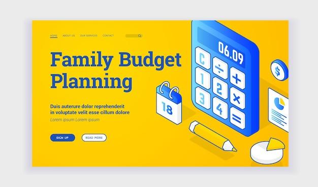 Website zur planung des familienbudgets