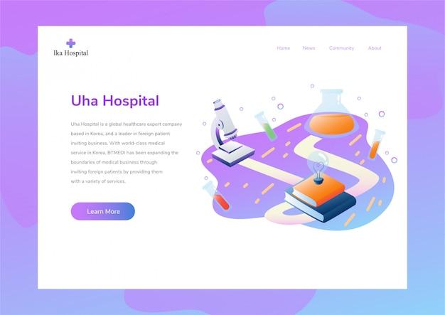 Websitedesignplan mit wissenschaftsthema