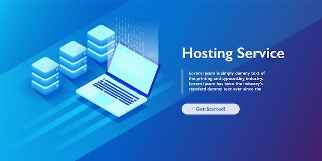 Websites, die dienste hosten