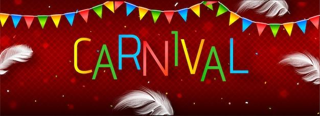 Websitetitel oder -fahne mit buntem text karneval.