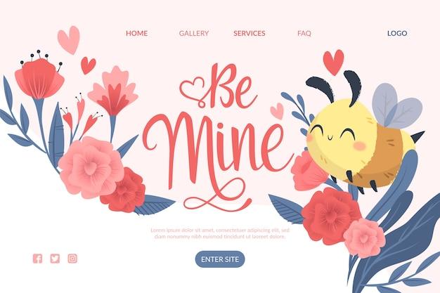 Webtemplate design zum valentinstag