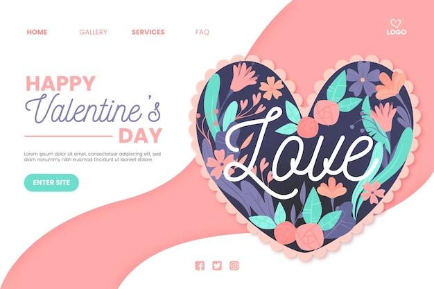 Webtemplate-konzept zum valentinstag