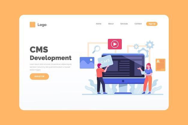 Webvorlage des content management systems