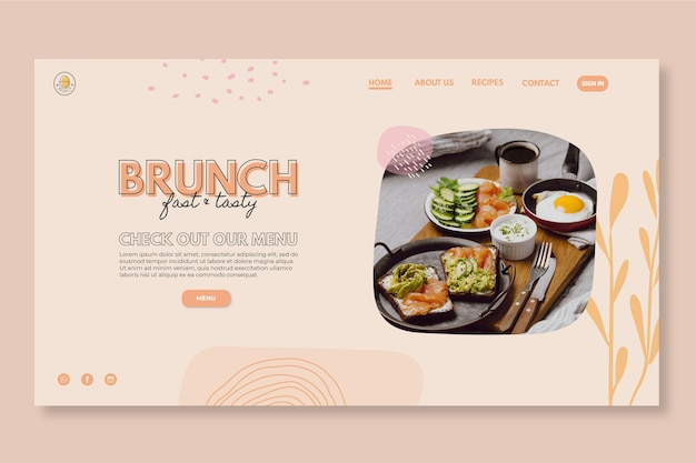 Webvorlage für brunch-restaurants