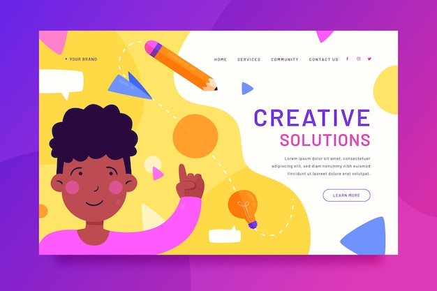Webvorlage für kreative lösungen