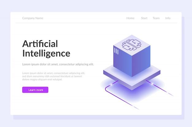Webvorlage für künstliche intelligenz