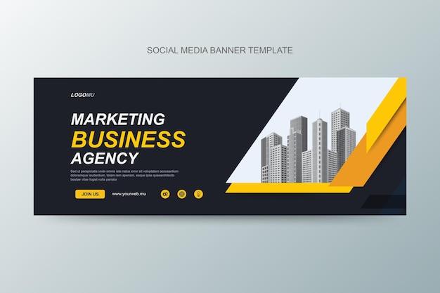Webvorlage für marketingagentur und corporate media banner design