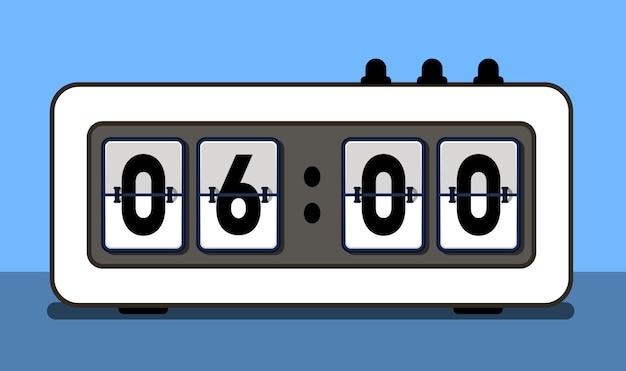 Wecker mit analogem boarding-font