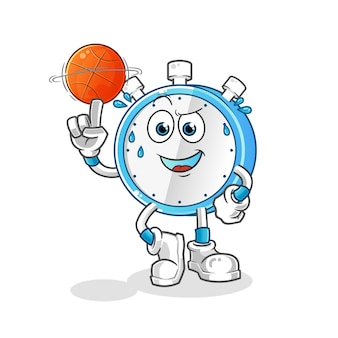 Wecker spielt basketball