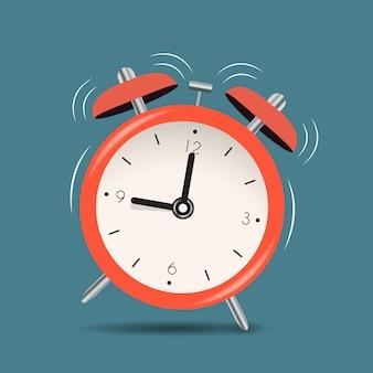Wecker symbol hintergrund. illustration Premium Vektoren