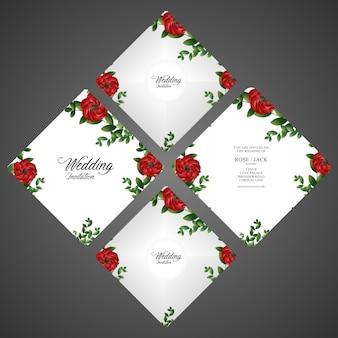 Wedding blumenkarten-einladungsschablone - wedding spezielles mit blumendesign