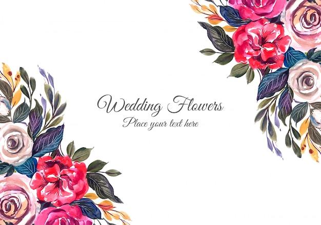 Wedding bunter blumenrahmen