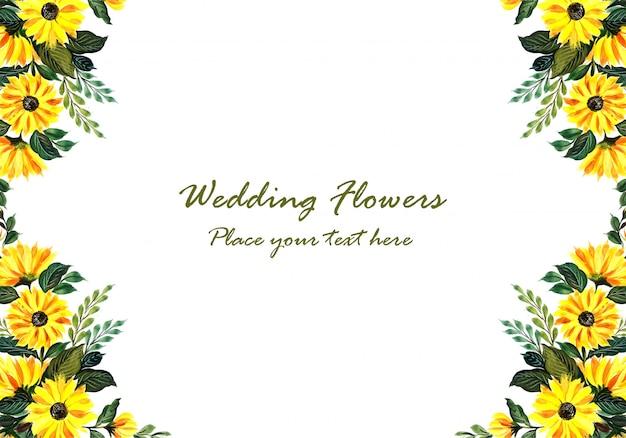 Wedding dekorativer gelber blumenrahmen