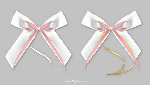 Wedding rosa weiße seidenbögen