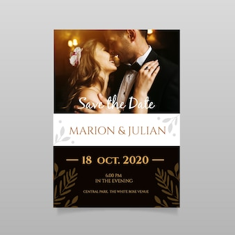 Wedding save the date einladung mit foto