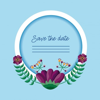 Wedding save the date-karte