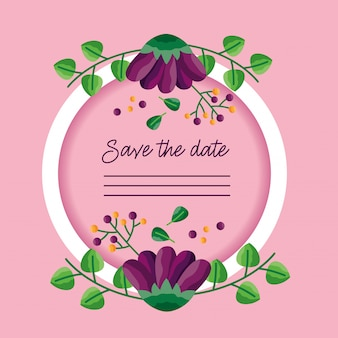 Wedding save the date kartenrahmen