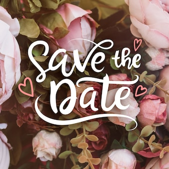 Wedding save the date mit foto
