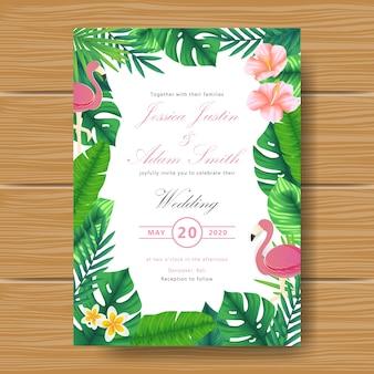 Wedding tropische blumeneinladung
