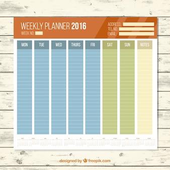 Weekley planer 2016 in den farben