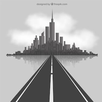 Weg in die stadt