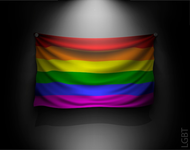 Wehende flagge der lgbt illustration