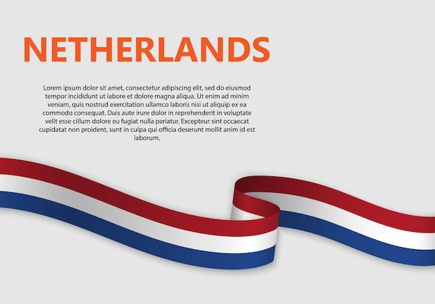 Wehende flagge der niederländischen fahne