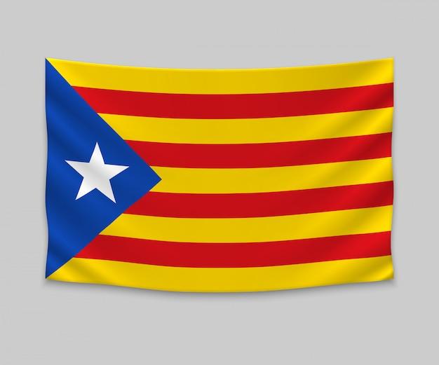 Wehende flagge des katalanischen independentist