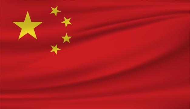 Wehende flagge von china