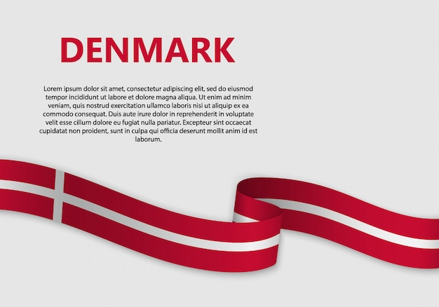 Wehende flagge von dänemark banner