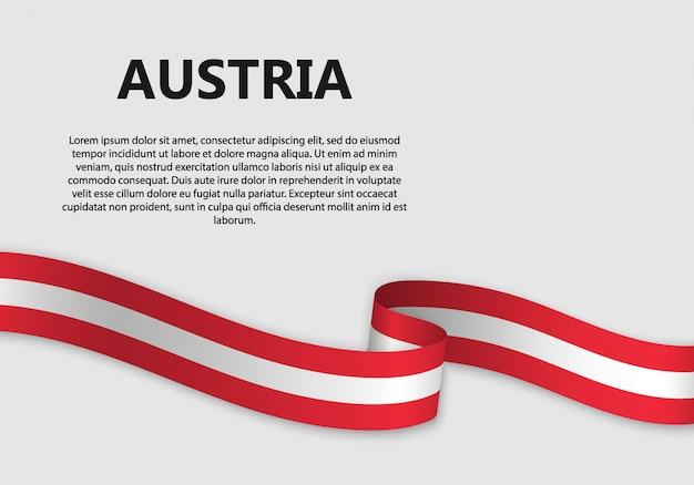 Wehende flagge von österreich banner