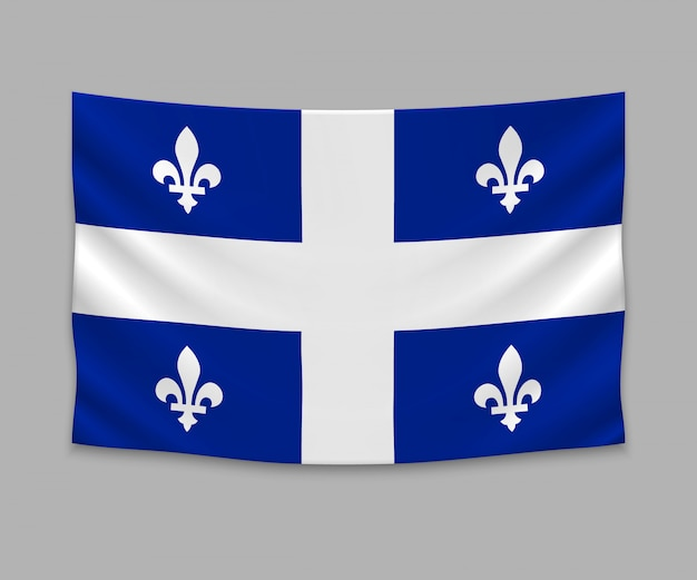 Wehende flagge von quebec