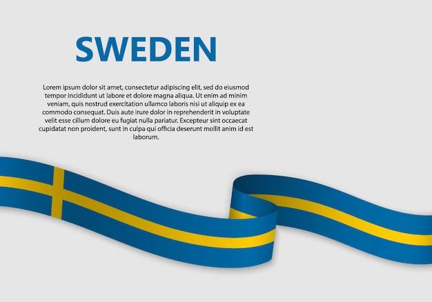 Wehende flagge von schweden banner