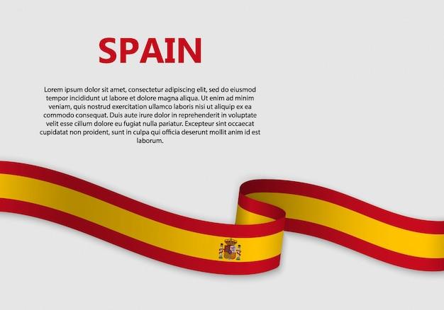 Wehende flagge von spanien banner