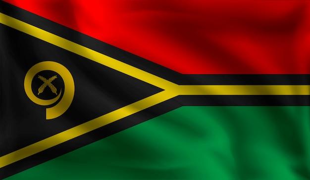 Wehende vanuatu-flagge, die flagge von vanuatu