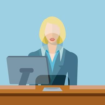 Weibliche bankangestellte