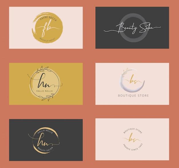 Weibliche branding logos
