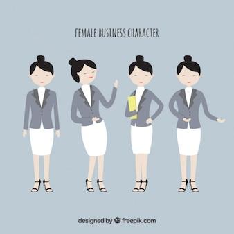 Weibliche business-zeichen sammlung