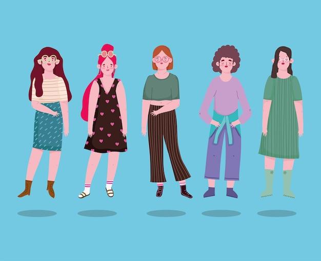 Weibliche charaktere gruppieren