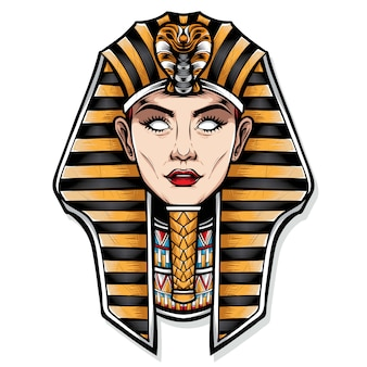 Weibliche cleopatra-vektor-illustration