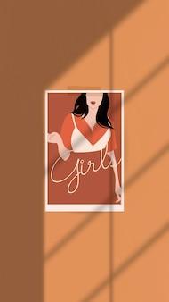 Weibliche fashionista handy wallpaper