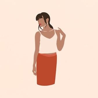 Weibliche fashionista