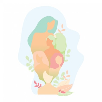 Weibliche figur in der natur. handgefertigt