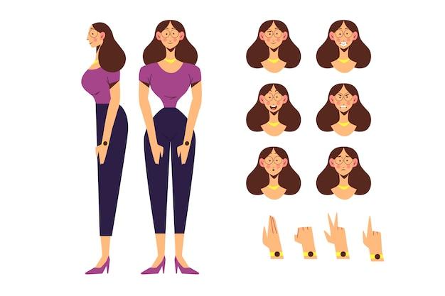 Weibliche figur posiert